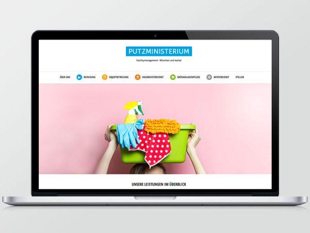 Putzministerium – Webseite
